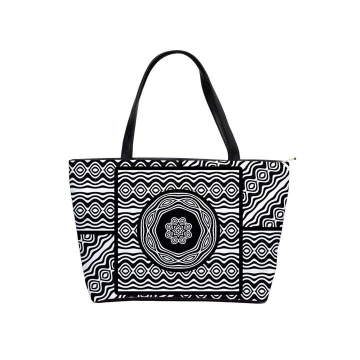Wavy Panels Shoulder Handbags