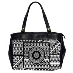 Wavy Panels Office Handbags (2 Sides)