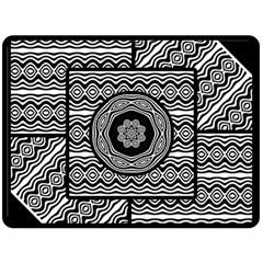 Wavy Panels Fleece Blanket (large)  by linceazul