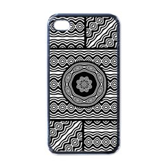 Wavy Panels Apple Iphone 4 Case (black) by linceazul