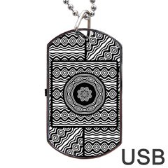 Wavy Panels Dog Tag Usb Flash (one Side)