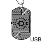 Wavy Panels Dog Tag USB Flash (One Side) Front