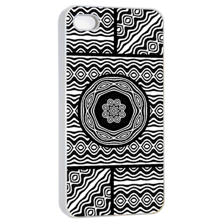 Wavy Panels Apple iPhone 4/4s Seamless Case (White)