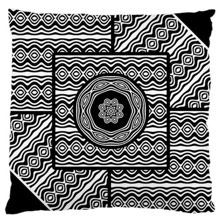 Wavy Panels Large Cushion Case (One Side)