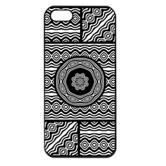 Wavy Panels Apple Iphone 5 Seamless Case (black) by linceazul