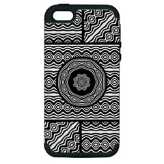 Wavy Panels Apple Iphone 5 Hardshell Case (pc+silicone) by linceazul