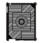 Wavy Panels Apple iPad 3/4 Case (Black) Front