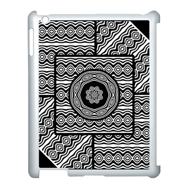 Wavy Panels Apple iPad 3/4 Case (White)