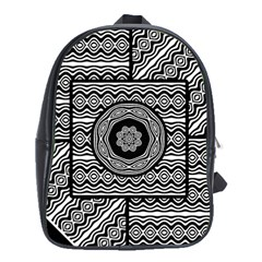 Wavy Panels School Bag (xl) by linceazul
