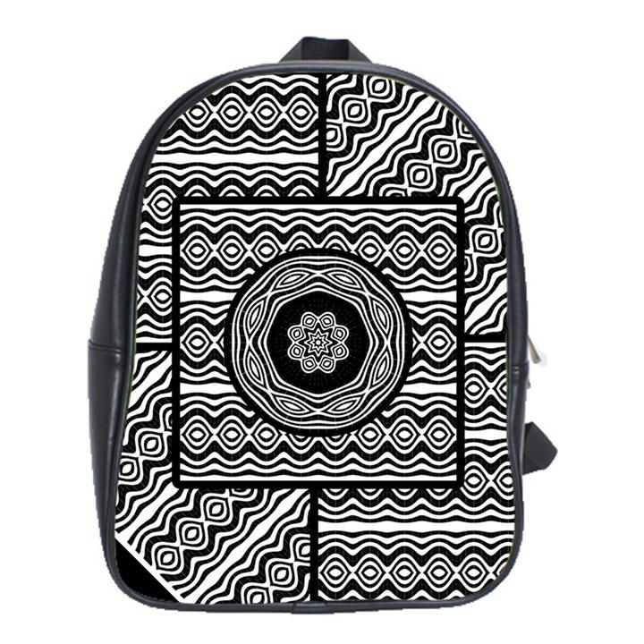 Wavy Panels School Bag (XL)