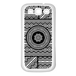 Wavy Panels Samsung Galaxy S3 Back Case (White) Front
