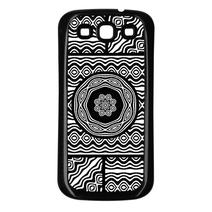 Wavy Panels Samsung Galaxy S3 Back Case (Black)