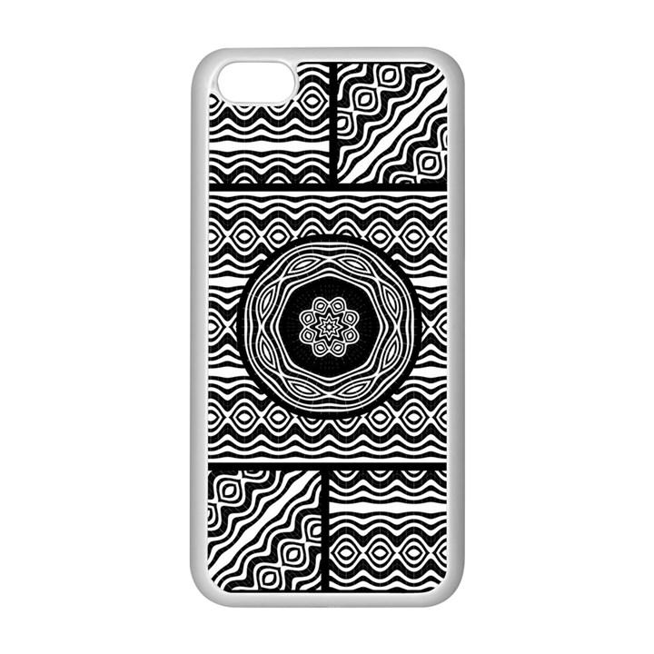 Wavy Panels Apple iPhone 5C Seamless Case (White)