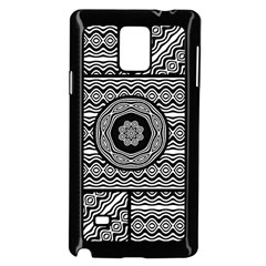 Wavy Panels Samsung Galaxy Note 4 Case (black) by linceazul