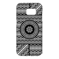 Wavy Panels Samsung Galaxy S7 Edge Hardshell Case by linceazul