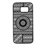 Wavy Panels Samsung Galaxy S7 Black Seamless Case Front