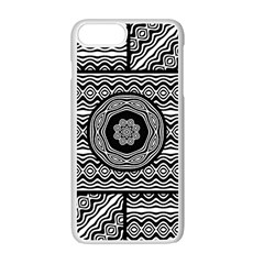 Wavy Panels Apple Iphone 7 Plus Seamless Case (white) by linceazul