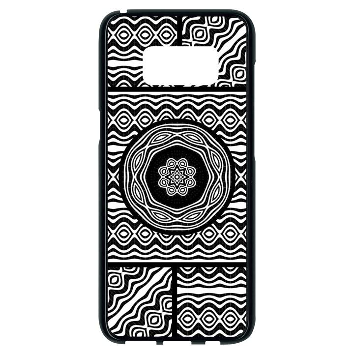 Wavy Panels Samsung Galaxy S8 Black Seamless Case