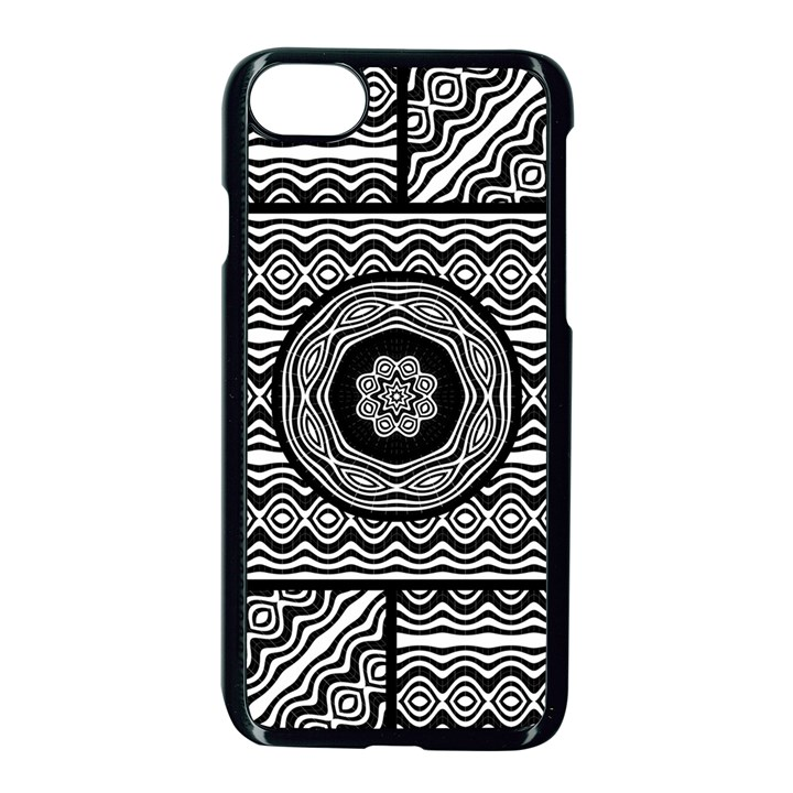 Wavy Panels Apple iPhone 8 Seamless Case (Black)