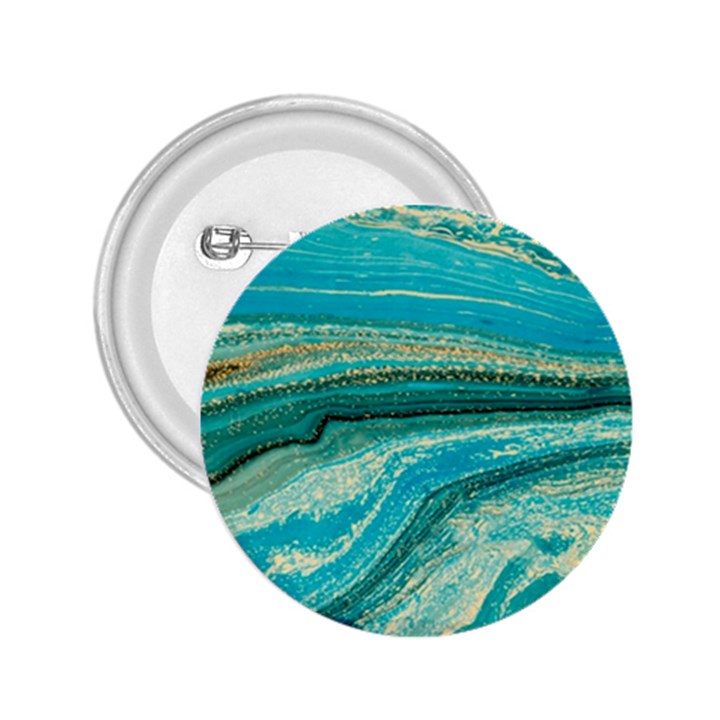 Mint,gold,marble,nature,stone,pattern,modern,chic,elegant,beautiful,trendy 2.25  Buttons