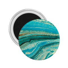 Mint,gold,marble,nature,stone,pattern,modern,chic,elegant,beautiful,trendy 2 25  Magnets