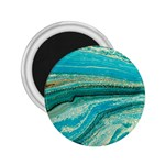 Mint,gold,marble,nature,stone,pattern,modern,chic,elegant,beautiful,trendy 2.25  Magnets Front