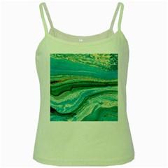 Mint,gold,marble,nature,stone,pattern,modern,chic,elegant,beautiful,trendy Green Spaghetti Tank
