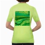 Mint,gold,marble,nature,stone,pattern,modern,chic,elegant,beautiful,trendy Women s Green T-Shirt Back