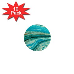 Mint,gold,marble,nature,stone,pattern,modern,chic,elegant,beautiful,trendy 1  Mini Magnet (10 Pack)  by 8fugoso