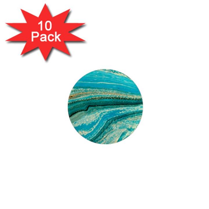 Mint,gold,marble,nature,stone,pattern,modern,chic,elegant,beautiful,trendy 1  Mini Magnet (10 pack)