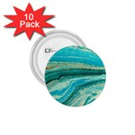 Mint,gold,marble,nature,stone,pattern,modern,chic,elegant,beautiful,trendy 1.75  Buttons (10 pack) Front