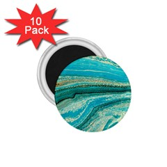 Mint,gold,marble,nature,stone,pattern,modern,chic,elegant,beautiful,trendy 1 75  Magnets (10 Pack)