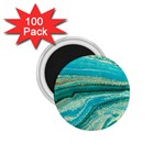 Mint,gold,marble,nature,stone,pattern,modern,chic,elegant,beautiful,trendy 1.75  Magnets (100 pack)  Front