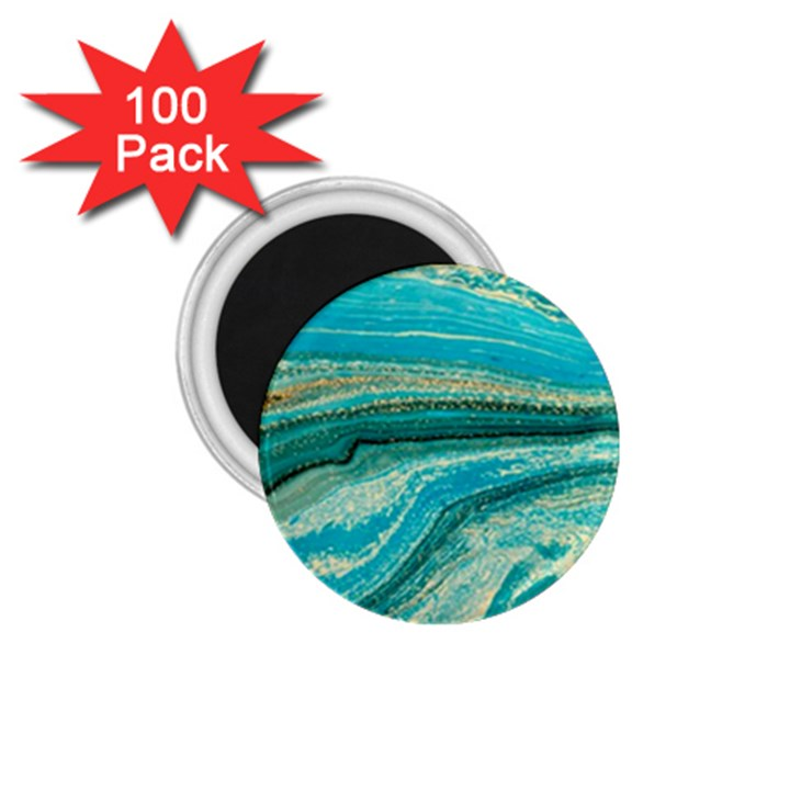 Mint,gold,marble,nature,stone,pattern,modern,chic,elegant,beautiful,trendy 1.75  Magnets (100 pack)