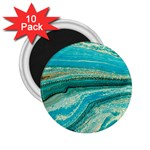 Mint,gold,marble,nature,stone,pattern,modern,chic,elegant,beautiful,trendy 2.25  Magnets (10 pack)  Front
