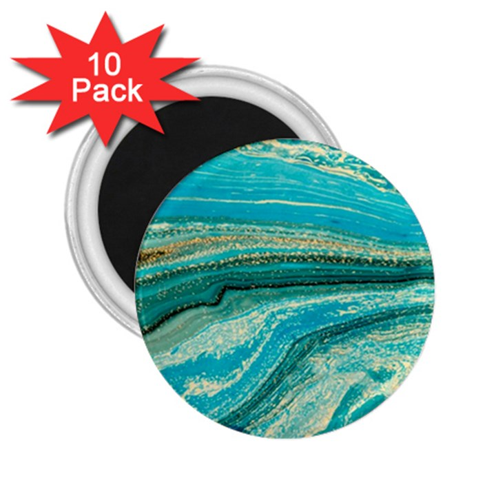 Mint,gold,marble,nature,stone,pattern,modern,chic,elegant,beautiful,trendy 2.25  Magnets (10 pack)