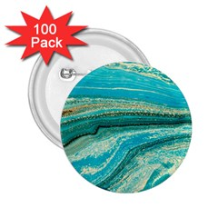 Mint,gold,marble,nature,stone,pattern,modern,chic,elegant,beautiful,trendy 2 25  Buttons (100 Pack)