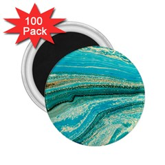 Mint,gold,marble,nature,stone,pattern,modern,chic,elegant,beautiful,trendy 2 25  Magnets (100 Pack)