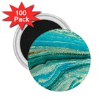 Mint,gold,marble,nature,stone,pattern,modern,chic,elegant,beautiful,trendy 2.25  Magnets (100 pack)  Front