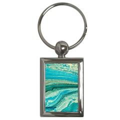 Mint,gold,marble,nature,stone,pattern,modern,chic,elegant,beautiful,trendy Key Chains (Rectangle)