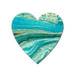 Mint,gold,marble,nature,stone,pattern,modern,chic,elegant,beautiful,trendy Heart Magnet Front