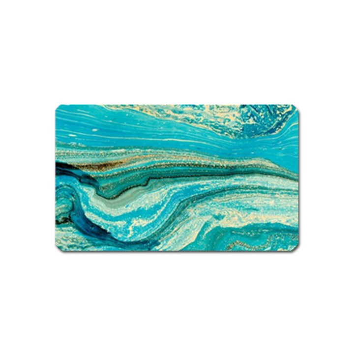Mint,gold,marble,nature,stone,pattern,modern,chic,elegant,beautiful,trendy Magnet (Name Card)