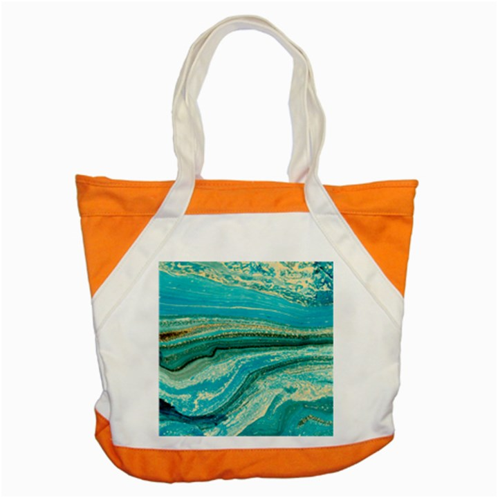 Mint,gold,marble,nature,stone,pattern,modern,chic,elegant,beautiful,trendy Accent Tote Bag