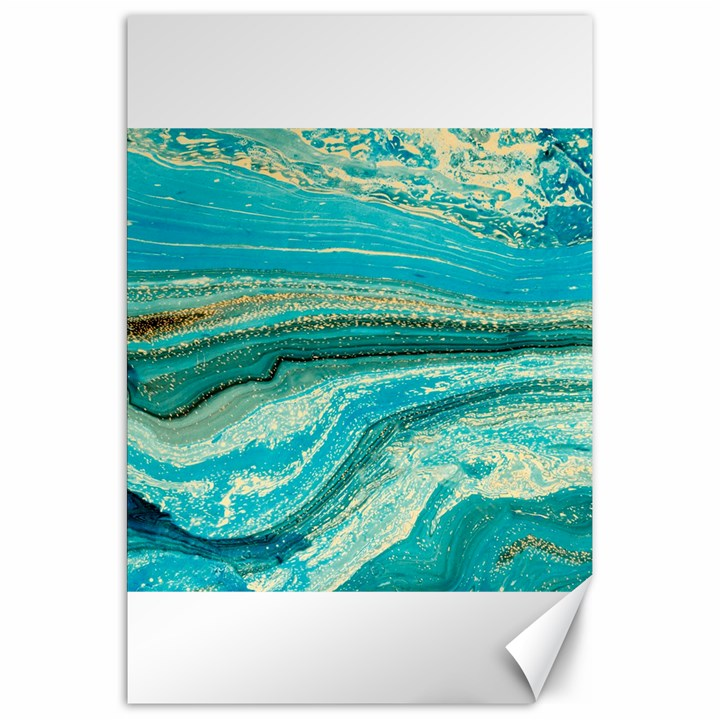 Mint,gold,marble,nature,stone,pattern,modern,chic,elegant,beautiful,trendy Canvas 20  x 30