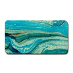 Mint,gold,marble,nature,stone,pattern,modern,chic,elegant,beautiful,trendy Medium Bar Mats 16 x8.5 Bar Mat - 1