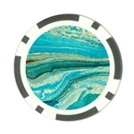 Mint,gold,marble,nature,stone,pattern,modern,chic,elegant,beautiful,trendy Poker Chip Card Guard Front