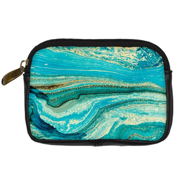 Mint,gold,marble,nature,stone,pattern,modern,chic,elegant,beautiful,trendy Digital Camera Cases