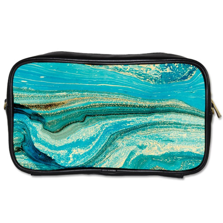 Mint,gold,marble,nature,stone,pattern,modern,chic,elegant,beautiful,trendy Toiletries Bags