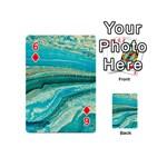 Mint,gold,marble,nature,stone,pattern,modern,chic,elegant,beautiful,trendy Playing Cards 54 (Mini)  Front - Diamond6