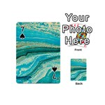 Mint,gold,marble,nature,stone,pattern,modern,chic,elegant,beautiful,trendy Playing Cards 54 (Mini)  Front - Spade7